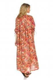 Antik Batik | Maxi-jurk Kalao | oranje/rood  | Afbeelding 5