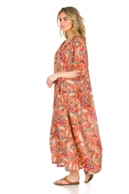 Antik Batik | Maxi-jurk Kalao | oranje/rood  | Afbeelding 4