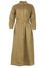 JC Sophie |  Popline midi dress Elza | green  | Picture 1