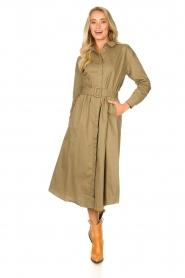 JC Sophie |  Popline midi dress Elza | green  | Picture 5