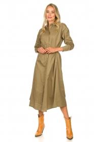 JC Sophie    Popline midi dress Elza   green    Picture 2