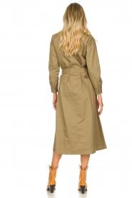 JC Sophie |  Popline midi dress Elza | green  | Picture 4