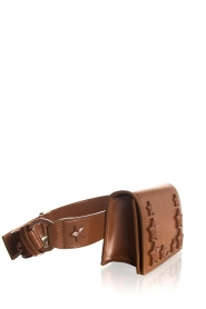 ELISABETTA FRANCHI |   Beltbag with studs Gianduia | Brown  | Picture 3