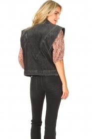 ba&sh |  Denim waistcoat Max | black  | Picture 7