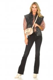 ba&sh |  Denim waistcoat Max | black  | Picture 3