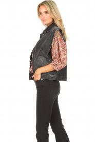 ba&sh |  Denim waistcoat Max | black  | Picture 6