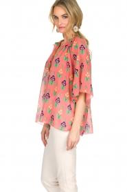 Antik Batik | Blouse Mia | roze  | Afbeelding 4