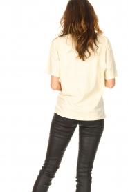 ba&sh |  T-shirt with imprint Vanea | natural   | Picture 6