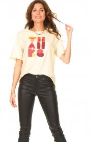 ba&sh |  T-shirt with imprint Vanea | natural   | Picture 2