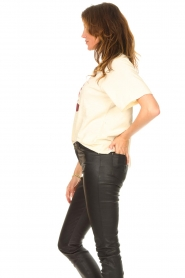 ba&sh |  T-shirt with imprint Vanea | natural   | Picture 5
