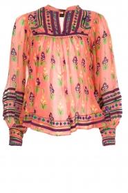 Antik Batik | Blouse Mia | roze  | Afbeelding 1