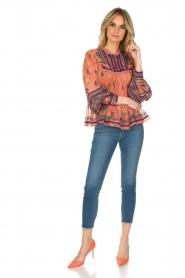 Antik Batik | Blouse Mia | roze  | Afbeelding 3