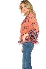 Antik Batik | Blouse Mia | roze  | Afbeelding 5