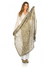 Becksöndergaard |  Scarf with leopard print and glitters Esther | animal print  | Picture 3