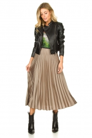 JC Sophie | Pleaded skirt Eddinburgh | grey  | Picture 2