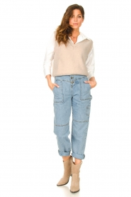 ba&sh |  Cargo jeans Tanguy | blue  | Picture 3