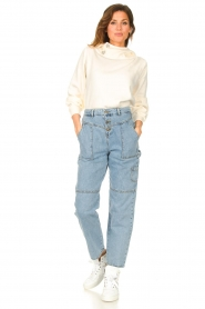 ba&sh |  Cargo jeans Tanguy | blue  | Picture 4