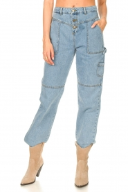 ba&sh |  Cargo jeans Tanguy | blue  | Picture 5