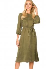 JC Sophie |  Cupro dress Elliery | green  | Picture 2