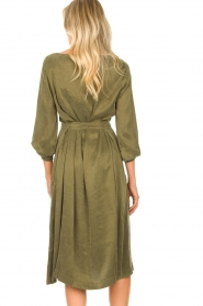 JC Sophie |  Cupro dress Elliery | green  | Picture 6