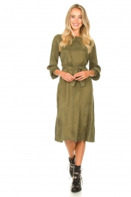 JC Sophie |  Cupro dress Elliery | green  | Picture 3