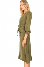 JC Sophie | Cupro jurk Ellery | groen  | Afbeelding 5
