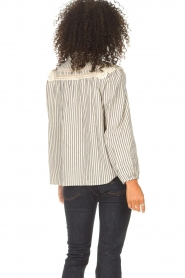 ba&sh |  Striped blouse with lace Anael | blue  | Picture 8
