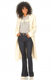 ba&sh |  Striped blouse with lace Anael | blue  | Picture 3