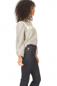 ba&sh |  Striped blouse with lace Anael | blue  | Picture 7