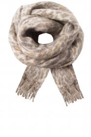 Becksöndergaard | Sjaal met luipaardprint Racie | grijs  | Afbeelding 1