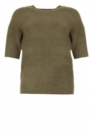 JC Sophie |  Soft short sleeve sweater Estee | green  | Picture 1