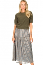 JC Sophie |  Soft short sleeve sweater Estee | green  | Picture 2