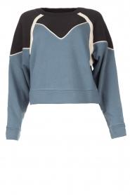 ba&sh |  Cotton sweater Brick | blue  | Picture 1