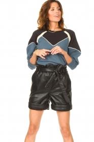 ba&sh |  Cotton sweater Brick | blue  | Picture 4