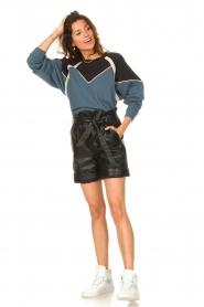 ba&sh |  Cotton sweater Brick | blue  | Picture 3