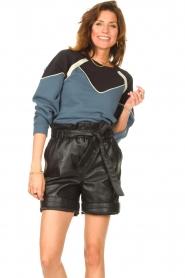 ba&sh |  Cotton sweater Brick | blue  | Picture 2