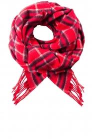 Becksöndergaard | Geruite sjaal Easton | rood  | Afbeelding 2