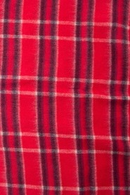 Becksöndergaard |  Checkered scarf Easton | red  | Picture 4