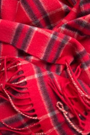 Becksöndergaard |  Checkered scarf Easton | red  | Picture 5