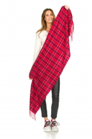 Becksöndergaard |  Checkered scarf Easton | red  | Picture 3