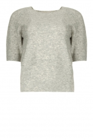 JC Sophie |  Soft short sleeve sweater Estee | grey  | Picture 1