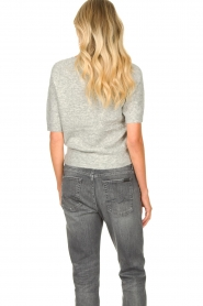 JC Sophie |  Soft short sleeve sweater Estee | grey  | Picture 6