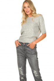JC Sophie |  Soft short sleeve sweater Estee | grey  | Picture 4