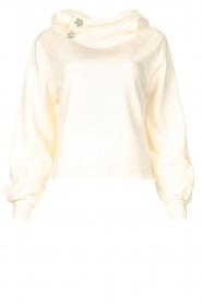 ba&sh |  Sweater with rhinestones Daren | ecru  | Picture 1
