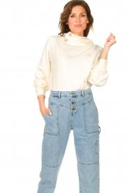 ba&sh |  Sweater with rhinestones Daren | ecru  | Picture 2
