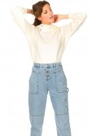 ba&sh |  Sweater with rhinestones Daren | ecru  | Picture 4