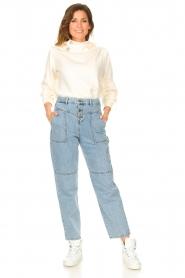 ba&sh |  Sweater with rhinestones Daren | ecru  | Picture 3