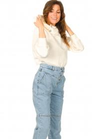 ba&sh |  Sweater with rhinestones Daren | ecru  | Picture 5