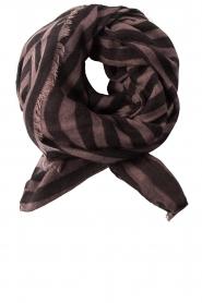 Becksöndergaard | Sjaal Stripes | zwart  | Afbeelding 2