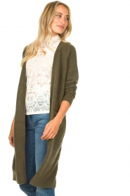 JC Sophie |  Soft knitted cardigan Estevania | green  | Picture 5